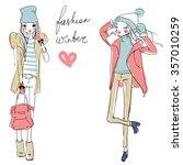Two Fashion Winter Girls