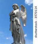 Detail Of Winged Angel Statue