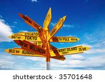 Signpost In The Stirling Point...