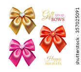 festive golden  pink and red... | Shutterstock .eps vector #357025091