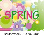 spring background with flowers  ... | Shutterstock .eps vector #357026804
