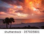Sunset over Florida Beach