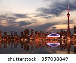 Toronto Skyline At Sunset ...