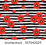seamless pattern with red... | Shutterstock .eps vector #357042029