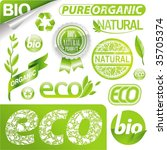 vector collection  eco signs ... | Shutterstock .eps vector #35705374