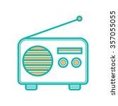 radio icon | Shutterstock .eps vector #357055055
