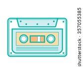 cassette icon | Shutterstock .eps vector #357055385