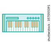 synthesizer icon | Shutterstock .eps vector #357055391
