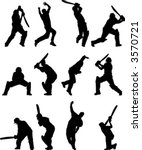 cricket silhouettes | Shutterstock .eps vector #3570721