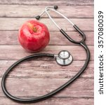 medical stethoscope and an... | Shutterstock . vector #357080039