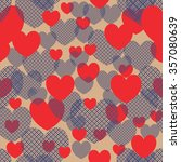retro abstract heart seamless... | Shutterstock .eps vector #357080639