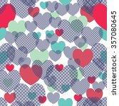 retro abstract heart seamless... | Shutterstock .eps vector #357080645