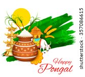 Illustration Of Happy Pongal...