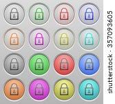 set of locked padlock plastic...