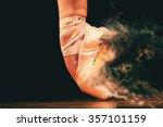 dancer in ballet shoes dancing... | Shutterstock . vector #357101159