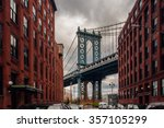 manhattan bridge from... | Shutterstock . vector #357105299
