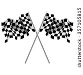 checkered flag isolated double | Shutterstock .eps vector #357105815