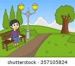 children at the park cartoon...   Shutterstock .eps vector #357105824