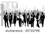 illustration of business people ... | Shutterstock .eps vector #35710798