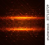 futuristic digital background... | Shutterstock . vector #357110729