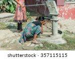 varanasi  india . 21  october ... | Shutterstock . vector #357115115