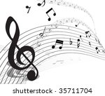 vector musical notes staff... | Shutterstock .eps vector #35711704