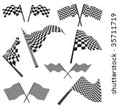 set of black and white checked... | Shutterstock .eps vector #35711719