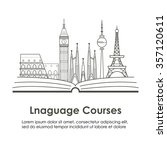 logo for language courses or... | Shutterstock .eps vector #357120611