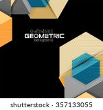 textured paper geometric shapes ... | Shutterstock .eps vector #357133055