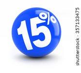 15  discount blue ball. fifteen ... | Shutterstock . vector #357133475