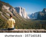 travel in yosemite park  man... | Shutterstock . vector #357160181