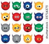 monsters   Shutterstock .eps vector #35716375