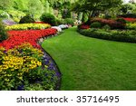 flower bed found in butchart... | Shutterstock . vector #35716495