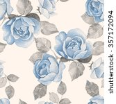 floral background with roses.... | Shutterstock . vector #357172094