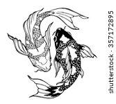 illustration of koi carp ... | Shutterstock .eps vector #357172895