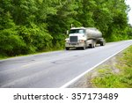 truck on interstate  usa | Shutterstock . vector #357173489