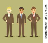 businessman in three different... | Shutterstock .eps vector #357176225