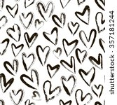 abstract seamless heart pattern.... | Shutterstock .eps vector #357181244