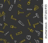 seamless pattern with tools for ... | Shutterstock .eps vector #357181955