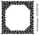 black and white round in the... | Shutterstock .eps vector #357190745