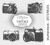 set of hand drawn vintage... | Shutterstock .eps vector #357198101