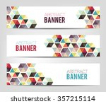 abstract geometric background   ... | Shutterstock .eps vector #357215114
