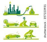 vector high performance economy ... | Shutterstock .eps vector #357223931