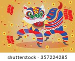 vector chinese new year lion is ...   Shutterstock .eps vector #357224285