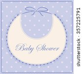 vector card baby shower with... | Shutterstock .eps vector #357225791