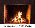 Burning Fireplace. Fireplace A...