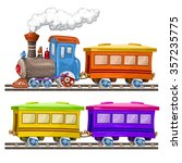 color trains  wagons and rails