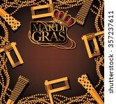 mardi gras party favor ... | Shutterstock .eps vector #357237611