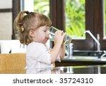 portrait of little girl having... | Shutterstock . vector #35724310