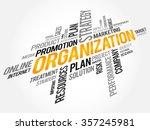 organization word cloud ... | Shutterstock . vector #357245981